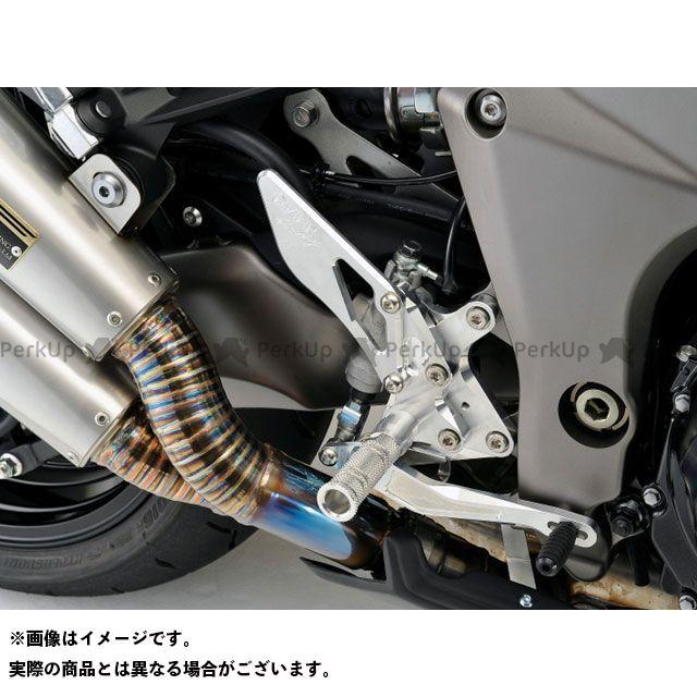 【エントリーで更にP5倍】オーバーレーシング ニンジャ1000・Z1000SX Z1000 バックステップ 4ポジション カラー:シルバー OVER RACING