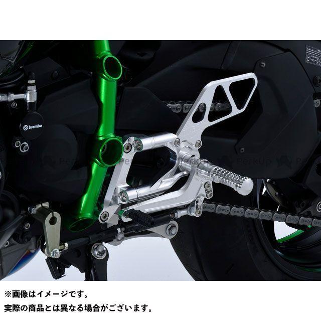 オーバーレーシング ニンジャH2(カーボン) バックステップ 4ポジション カラー:シルバー OVER RACING