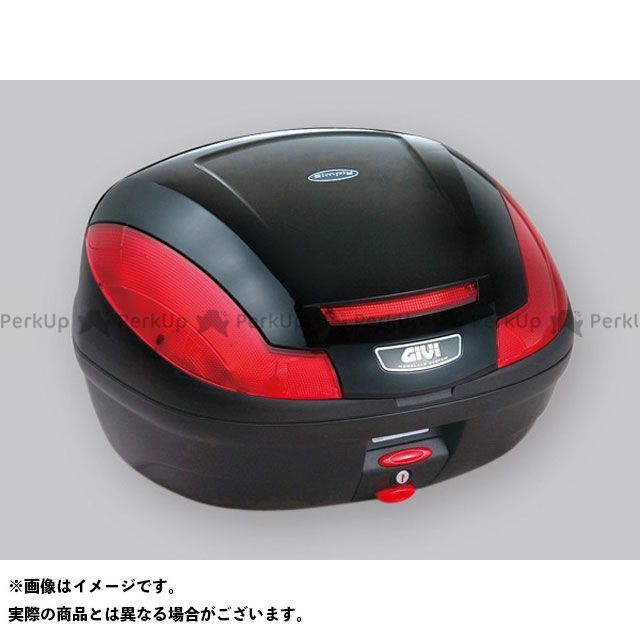 ジビ Vストローム1000 汎用 モノロックケース SIMPLY3シリーズ(ストップランプ無し) ブラック塗装 GIVI