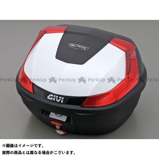 送料無料 ジビ GIVI ツーリング用ボックス モノロックケース B37シリーズ(ストップランプ無し) パールホワイト塗装