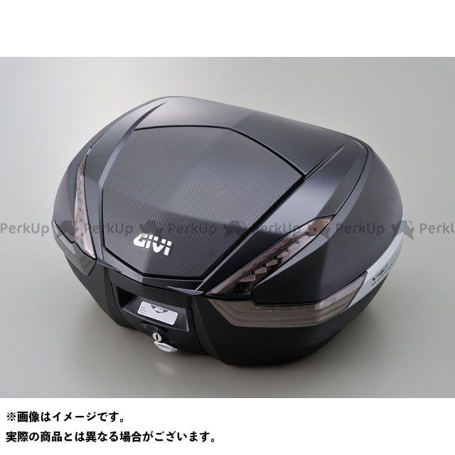 送料無料 ジビ GIVI ツーリング用ボックス モノキーケース V47シリーズ(ストップランプ無し) カーボン調パネル TECH未塗装