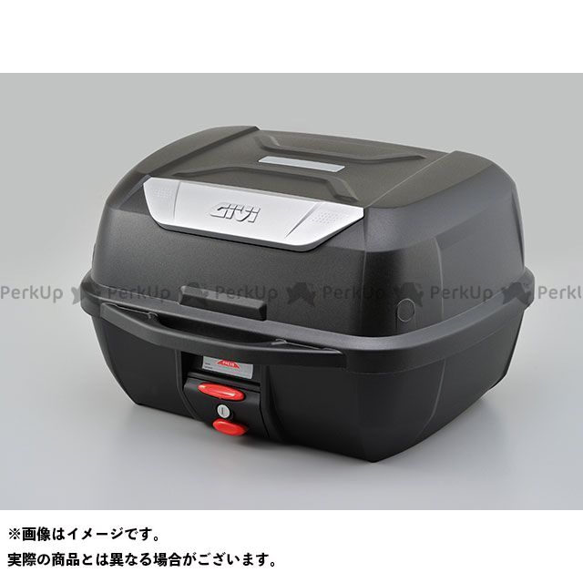 メーカー在庫あり ジビ GIVI モノロックケース E43NMLシリーズ(ストップランプ無し) E43NTLD/未塗装ブラック