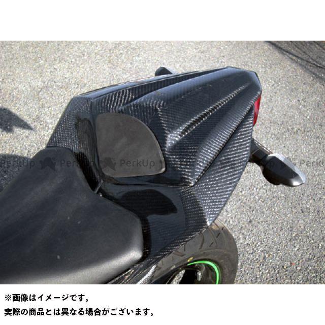 【エントリーで更にP5倍】エーテック ニンジャ250 タンデムシートカバー 材質:綾織カーボン A-TECH