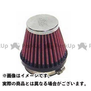 送料無料 K&N 汎用 エアクリーナー カスタムフィルター ラウンドテーパー 55φ(51/76×70mm) クロームメッキ
