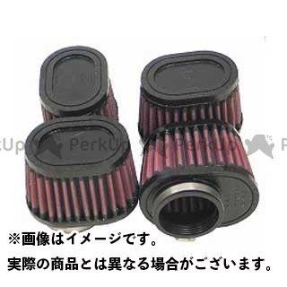 送料無料 K&N 汎用 エアクリーナー カスタムフィルター オーバルテーパー 51φ(76×102×70mm) ラバーモールド×4ヶセット