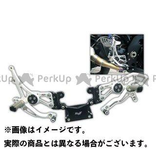 【エントリーで更にP5倍】ロビーモト ニンジャZX-6R ZX-6R/636R(07-14) バックステップ RACE シルバー ※ABS不可 Robby Moto Engineering