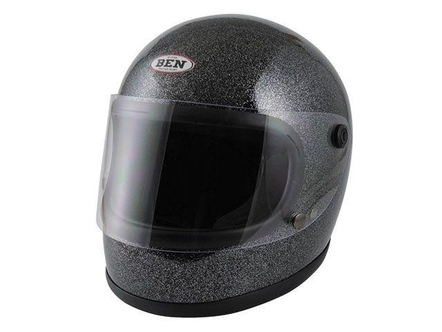 送料無料 スピードピット SPEEDPIT フルフェイスヘルメット 【限定品】B-60 ヴィンテージフルフェイス ラメブラック