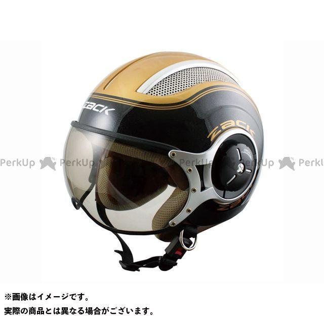 送料無料 スピードピット SPEEDPIT ジェットヘルメット ZQ-8 ZACK ジェットヘルメット ブラック/ゴールド XL