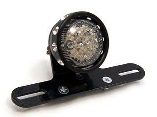 送料無料 イージーライダース 汎用 テール関連パーツ LEDドリルドテールライト(ブラック) クリア