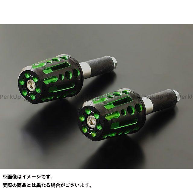PMC 汎用 スピンドル バーエンド φ13~φ14mm対応 カラー:グリーン ピーエムシー