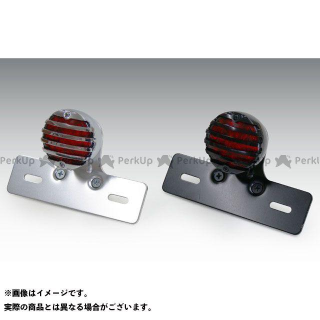 キジマ 汎用 GRILL タイプ テールランプ プレート付 LED(レッドレンズ) ボディカラー:ブラック KIJIMA