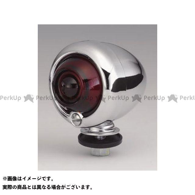 キジマ ハーレー汎用 オールドブレットウインカー ガラスレンズ 2個セット(メッキボディ) レンズカラー:レッド KIJIMA