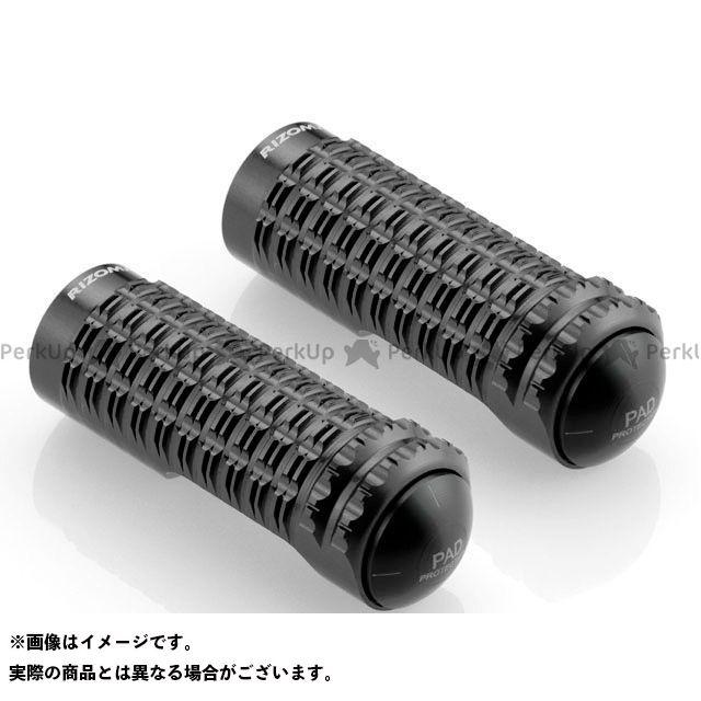 【エントリーで更にP5倍】リゾマ 汎用 ライダー&パッセンジャーペグ(純正ステップ用) 左右セット カラー:ブラック RIZOMA