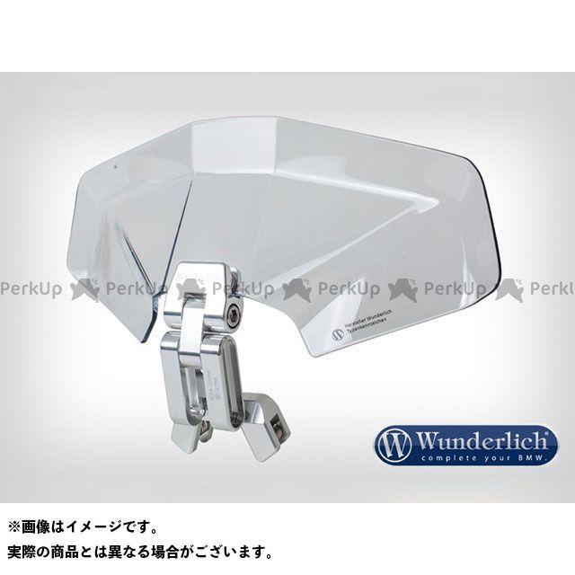 ワンダーリッヒ 汎用 スクリーン関連パーツ アジャスタブル 3D plusスクリーンスポイラー クリアー