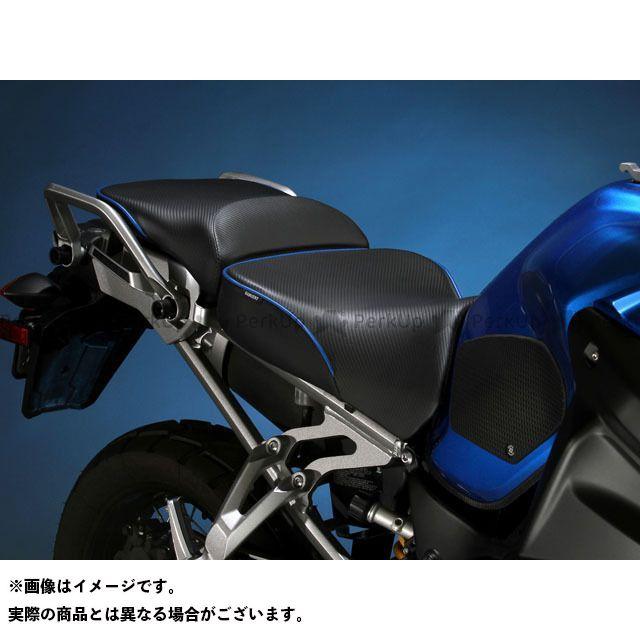 サージェント XT1200Zスーパーテネレ シート関連パーツ シート EUレギュラーフロントシート パイピング:ブラック
