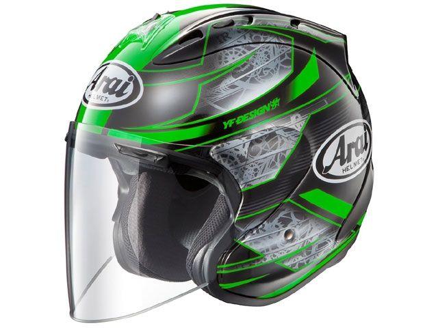 送料無料 アライ ヘルメット Arai ジェットヘルメット SZ-Ram4 CHRONUS(クロノス) グリーン 57-58cm