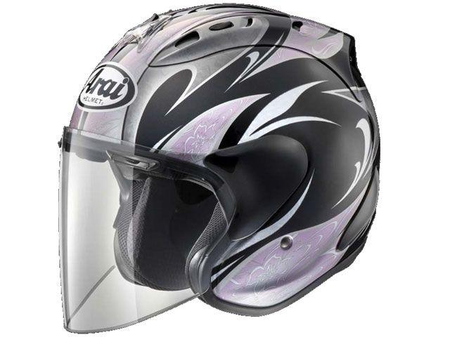 送料無料 アライ ヘルメット Arai ジェットヘルメット SZ-Ram4 Karen ブラック/ピンク 55-56cm