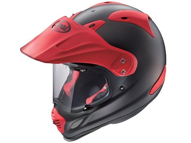 送料無料 アライ ヘルメット Arai オフロードヘルメット TOUR CROSS 3(ツアークロス3) フラットブラック/レッド 59-60cm
