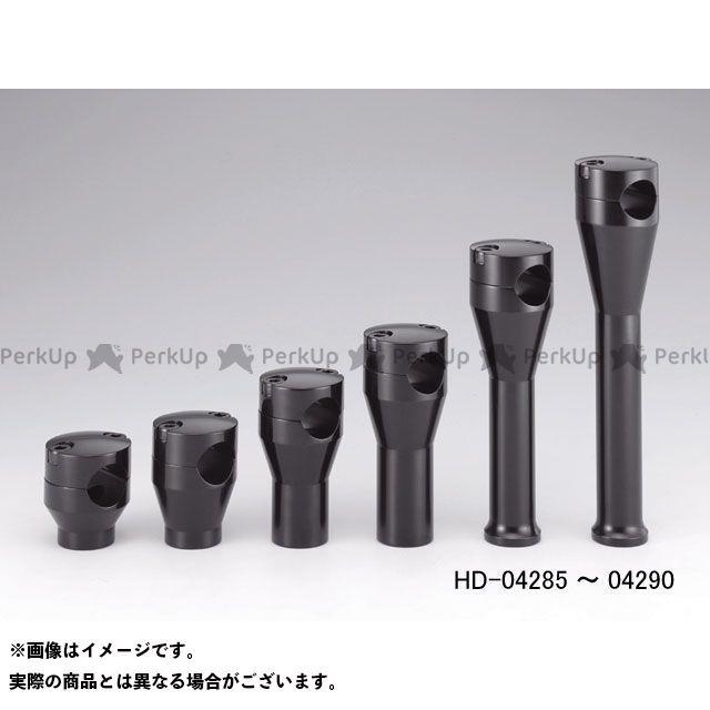 キジマ ハーレー汎用 アルミ ストレートライザー ブラックアルマイト 3インチ KIJIMA