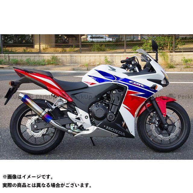 サンセイ 400X CB400F CBR400R ZNIC リアエキゾーストシステム(スリップオンマフラー) ステンレス/陽極酸化チタン