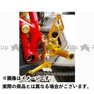 【エントリーで更にP5倍】ベビーフェイス 1098 1198 848 バックステップキット Type2 ロゴ彫り込み無し カラー:ゴールド BABYFACE