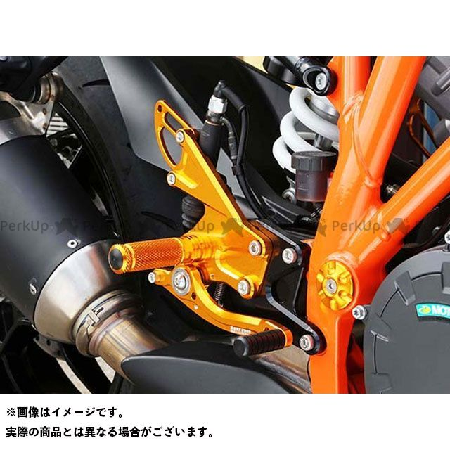ベビーフェイス 1290スーパーデュークR バックステップ関連パーツ バックステップキット ブラック