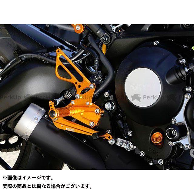 【エントリーで更にP5倍】ベビーフェイス MT-09 XSR900 バックステップキット カラー:ゴールド BABYFACE