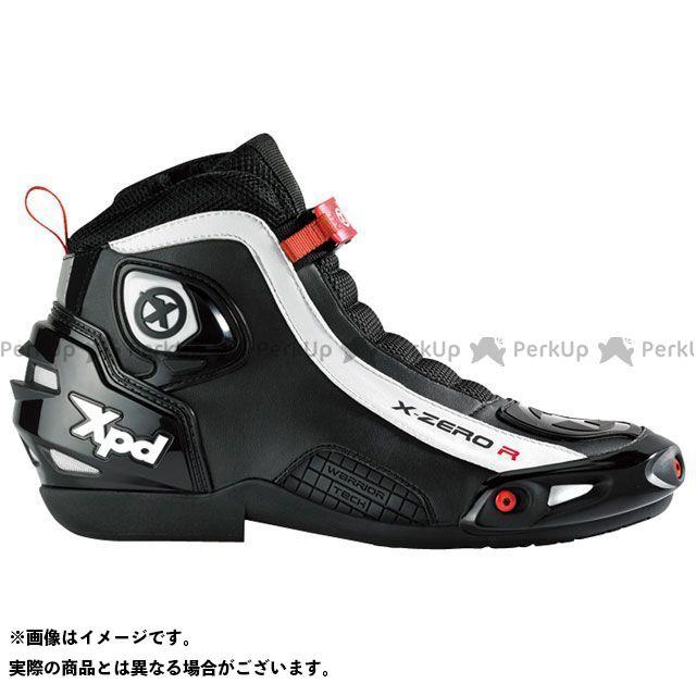 送料無料 XPD エックスピーディー ライディングシューズ XPS012 X-ZERO R ブラック 25.0cm/40