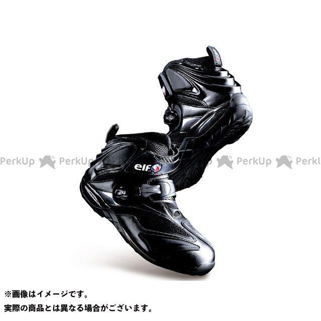 送料無料 elf shoes エルフシューズ ライディングシューズ ELF15 Synthese15(シンテーゼ15) ブラック 25.5cm