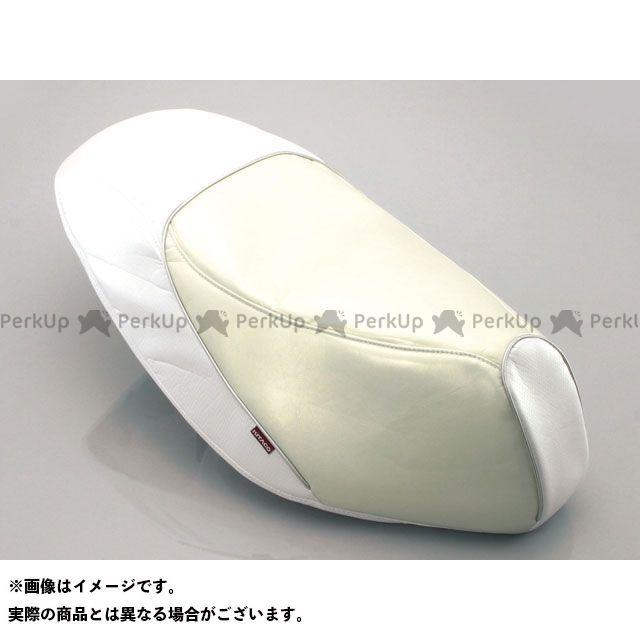 送料無料 キタコ アドレスV125 アドレスV125G シート関連パーツ プリズムシートカバー ホワイト/シルバーパイピング
