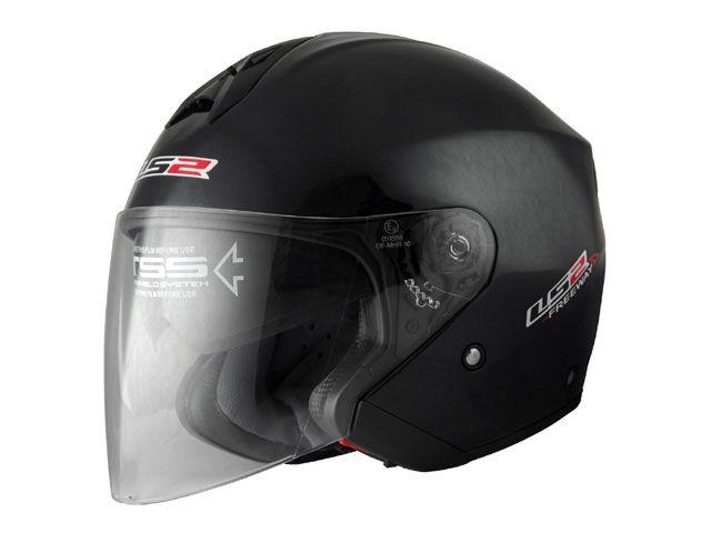 送料無料 LS2 HELMETS エルエスツー ジェットヘルメット LS2 FREEWAY(フリーウェイ) ソリッドモデル ブラックメタリック S/55-56cm