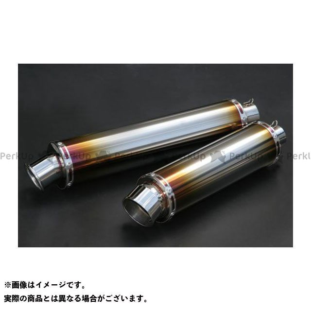 リアライズ 汎用 汎用Titan サイレンサー サイズ:100φ×450 テールタイプ:スラッシュ 差込径:50.8φ Realize Racing
