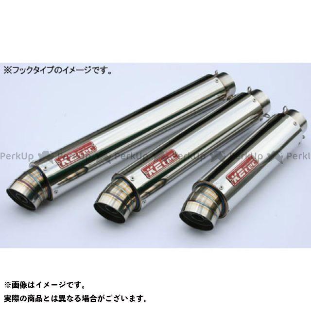 ケイツーテック 汎用 GPスタイル STDサイレンサー 3ピース 50.8/P50(ステンレス/SUS304) タイプ:バンド止めタイプ 外径:φ100 筒長:520mm K2-tec