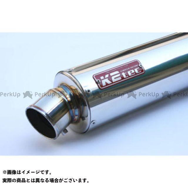ケイツーテック 汎用 GPスタイル STDサイレンサー S6 50.8/P50(ステンレス/SUS304) バンド止めタイプ 外径:φ100 筒長:420mm K2-tec