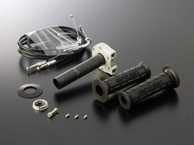 送料無料 アクティブ 汎用 グリップ関連パーツ TMRキャブレター専用スロットルキット TYPE-2 巻取φ40 シルバー メッキ金具/1050mm