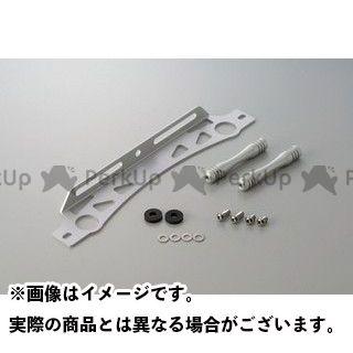 送料無料 アクティブ 汎用 オイルクーラー ラウンドコア用 汎用ステーセット 11インチ シルバー 16段