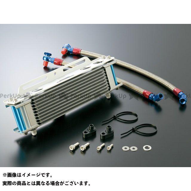 アクティブ エイプ100 エイプ50 オイルクーラーキット(横)ストレート #6 4.5-10R シリンダー取出しタイプ カラー:シルバー ACTIVE