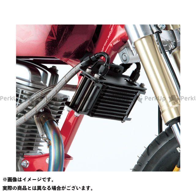 アクティブ エイプ100 エイプ50 オイルクーラーキット(縦)ストレート #6 4.5-7R シリンダー取出しタイプ カラー:ブラック ACTIVE