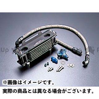 アクティブ SRX400(SRX-4) SRX600(SRX-6) オイルクーラー オイルクーラーキット ストレート #6 4.5-10R ブラック