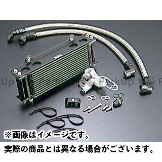 アクティブ GSX1100Sカタナ オイルクーラー オイルクーラーキット(サイド廻し)ストレート #8 9-10R(サーモ対応キット) ブラック