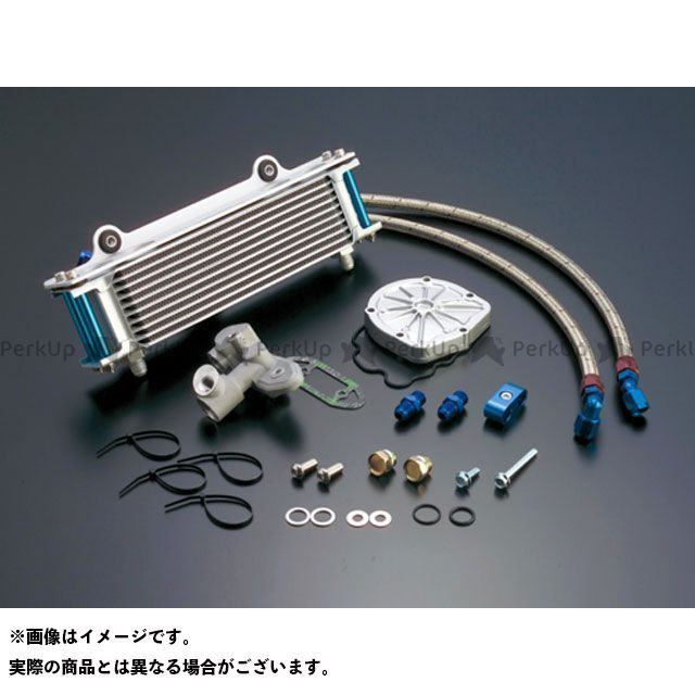 アクティブ GSX1100Sカタナ オイルクーラー オイルクーラーキット(サイド廻し)ストレート #6 9-13R(サーモ対応キット) シルバー