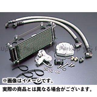 アクティブ GSX1100Sカタナ オイルクーラー オイルクーラーキット(サイド廻し)ストレート #8 9-13R(サーモ対応キット) ブラック