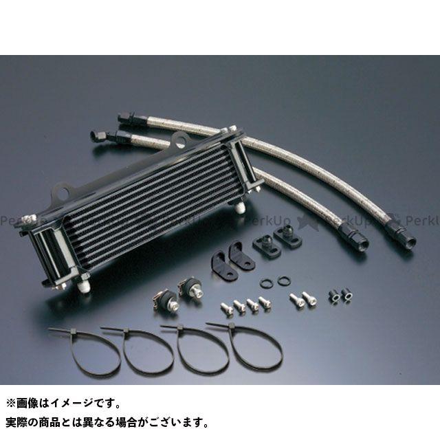 アクティブ GPZ750 GPz750F オイルクーラー オイルクーラーキット(サイド廻し)ストレート #6 9-10R(サーモ対応キット) ブラック