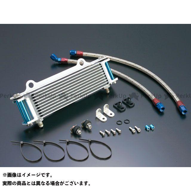 アクティブ GPZ750 GPz750F オイルクーラー オイルクーラーキット(サイド廻し)ストレート #6 9-10R シルバー