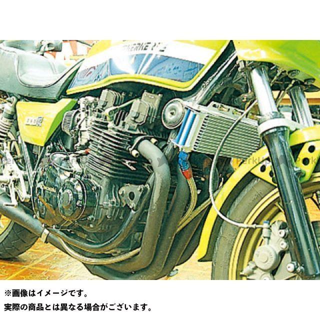 アクティブ Z1000J Z1000R オイルクーラー オイルクーラーキット(サイド廻し)ストレート #8 9-10R シルバー