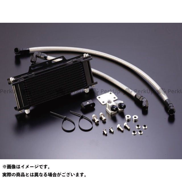 アクティブ Z1000J Z1000R オイルクーラー オイルクーラーキット(下出し)ストレート #8 9-10R ブラック