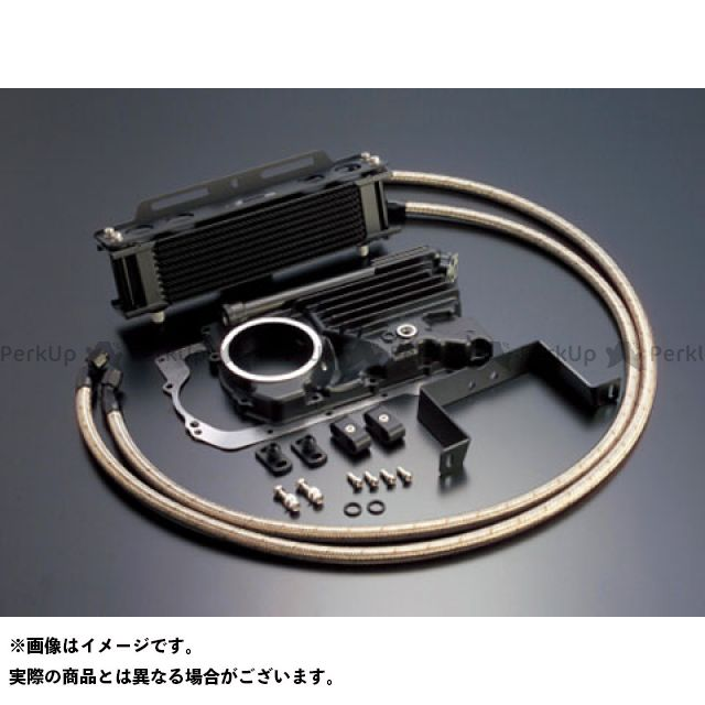 アクティブ Z400FX オイルクーラー オイルクーラーキット ストレート #6 9-10R(サーモ対応キット) ブラック