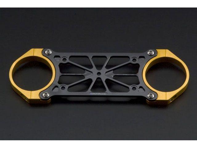 送料無料 Kファクトリー ZRX1200R ZRX1200S その他ハンドル関連パーツ フロントスタビライザー メタリックシルバー ストロングゴールド