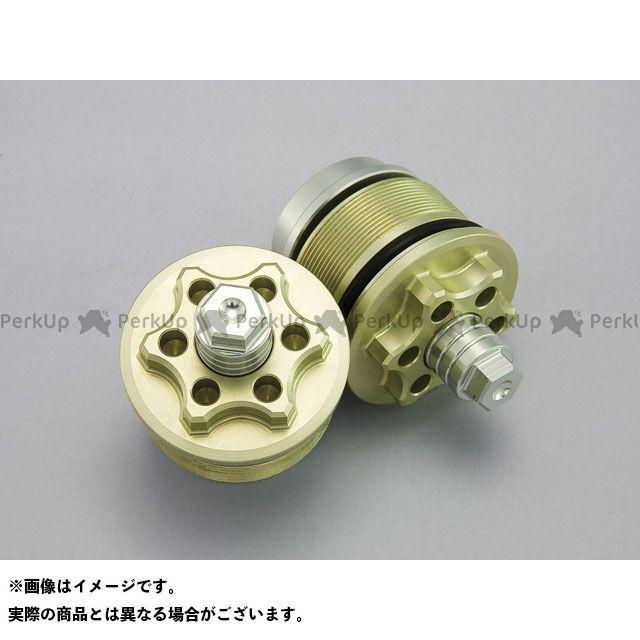 【エントリーで最大P21倍】Kファクトリー F800R フロントフォークトップキャップ(シャンパンゴールド) ケイファクトリー