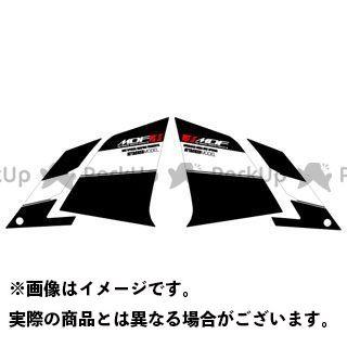 【エントリーで最大P23倍】MDF ニンジャ250 Ninja250(13-17) グラフィックキット アタッカーモデル ブラックタイプ タイプ:フロントサイドセット エムディーエフ